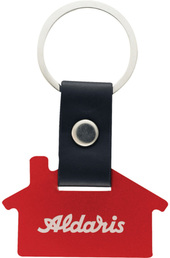 house-shaped aluminum key chain