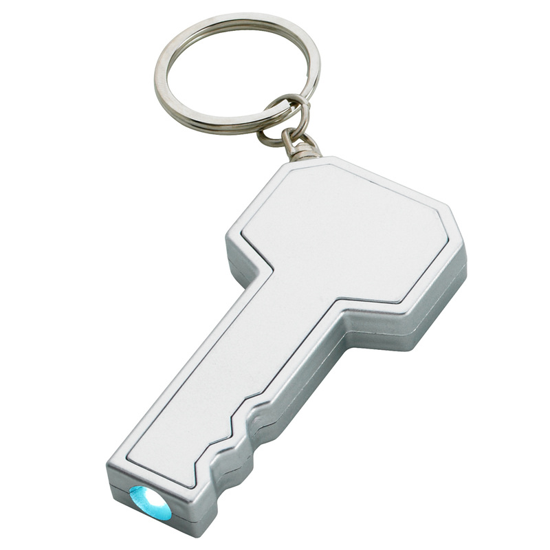 key shaped led key ring