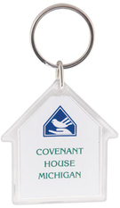 house acrylic key tag