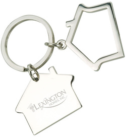 two piece house key ring